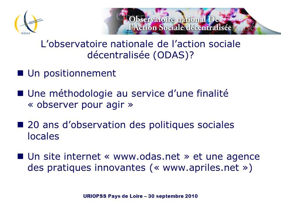 L'observatoire nationale de l'action sociale décentralisée (ODAS)