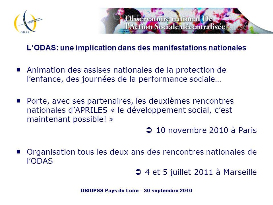 L'ODAS: une implication dans des manifestations nationales