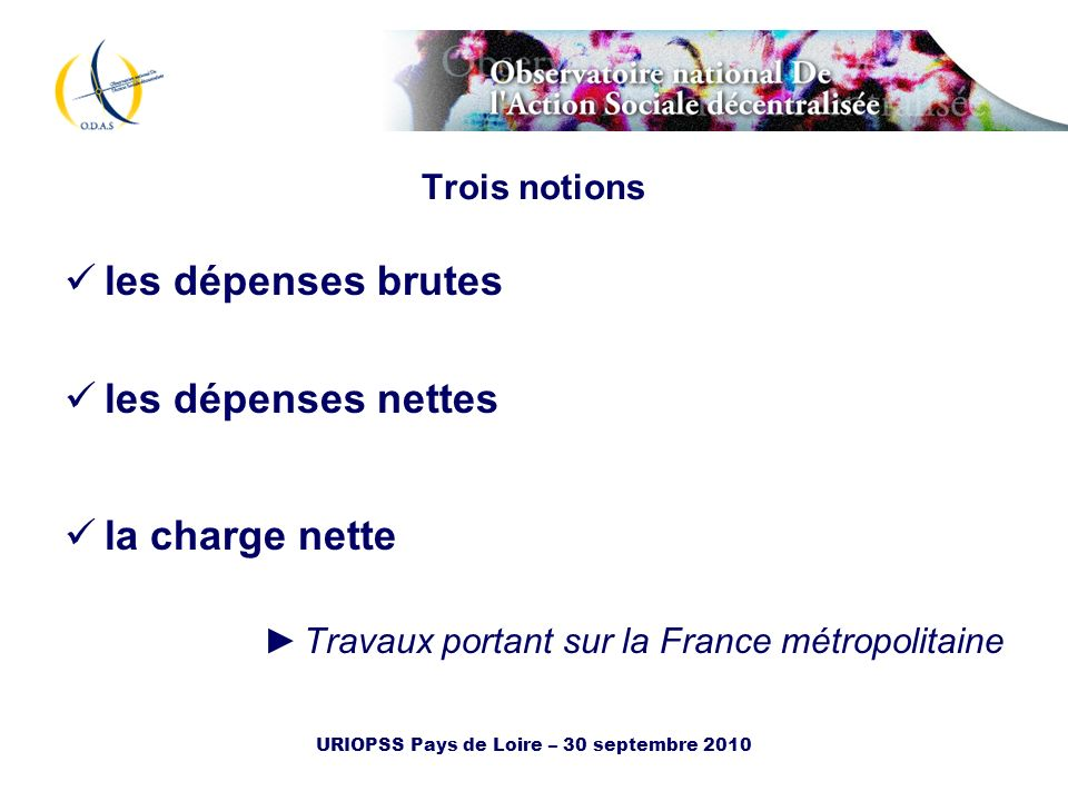 URIOPSS Pays de Loire – 30 septembre 2010
