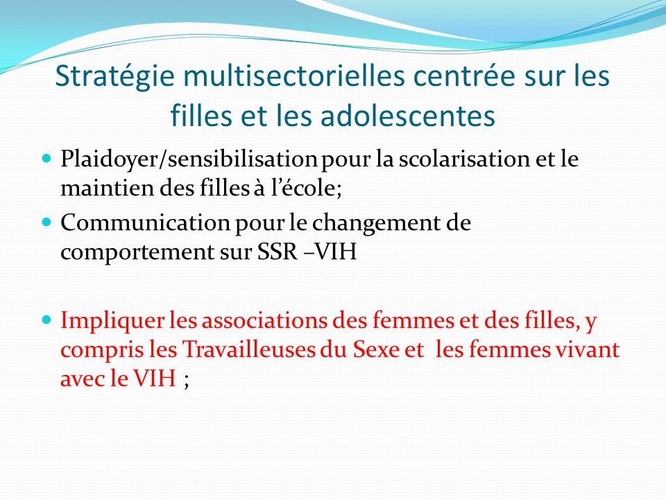 Stratégie multisectorielles centrée sur les filles et les adolescentes