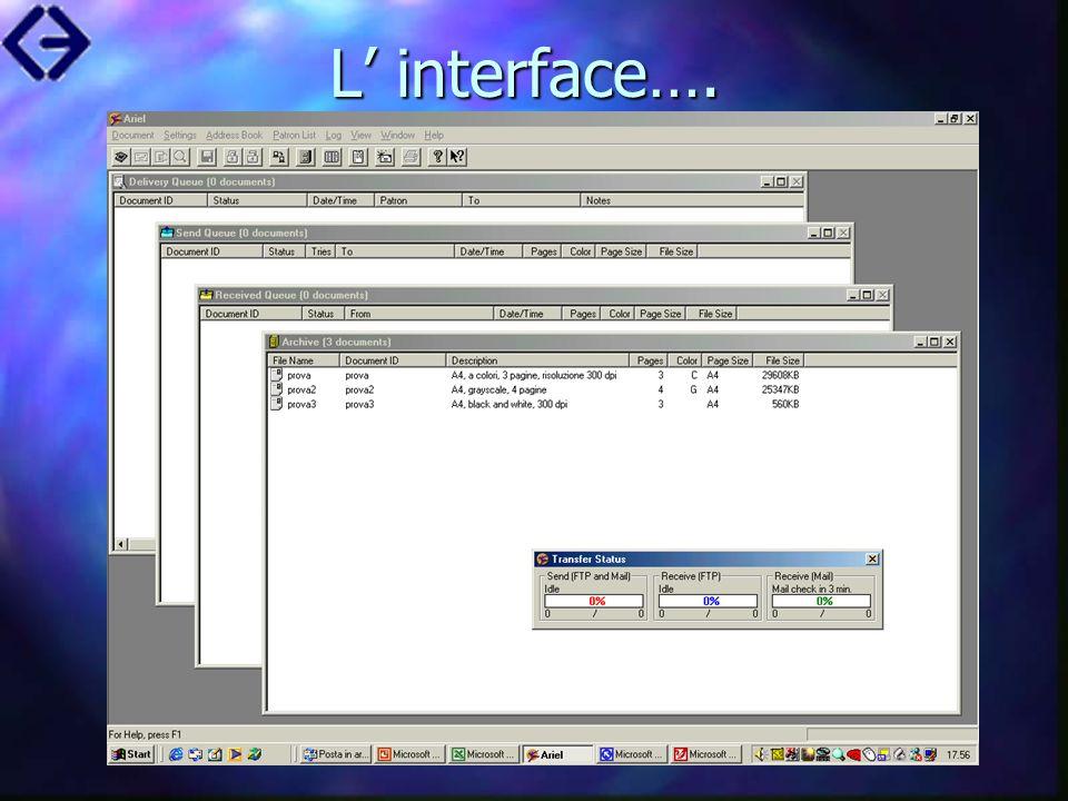 L' interface….