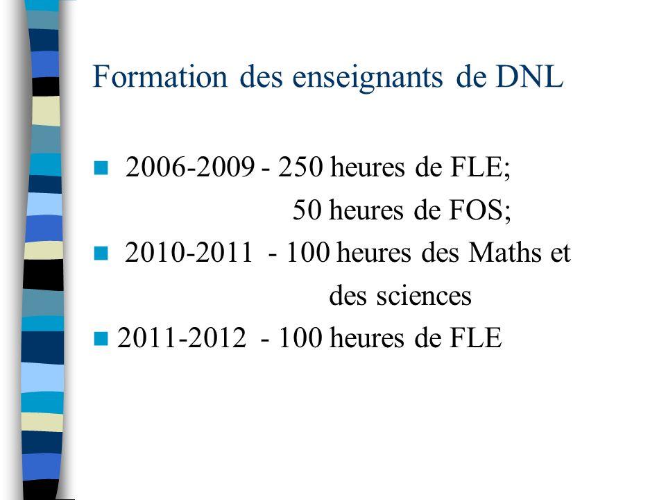 Formation des enseignants de DNL
