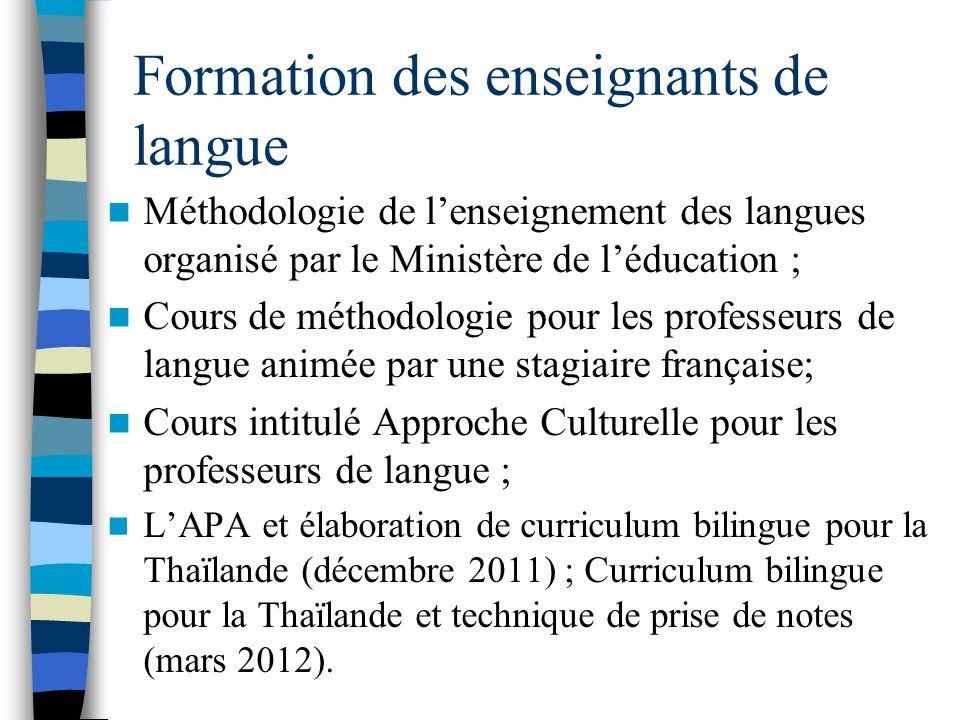 Formation des enseignants de langue