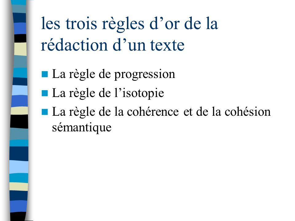 les trois règles d'or de la rédaction d'un texte