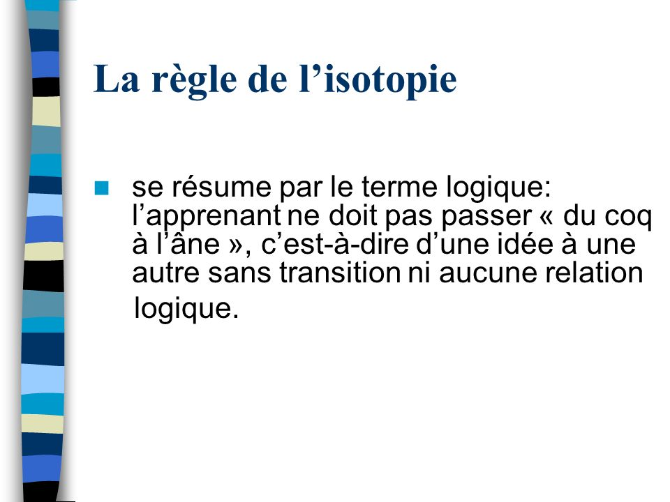 La règle de l'isotopie