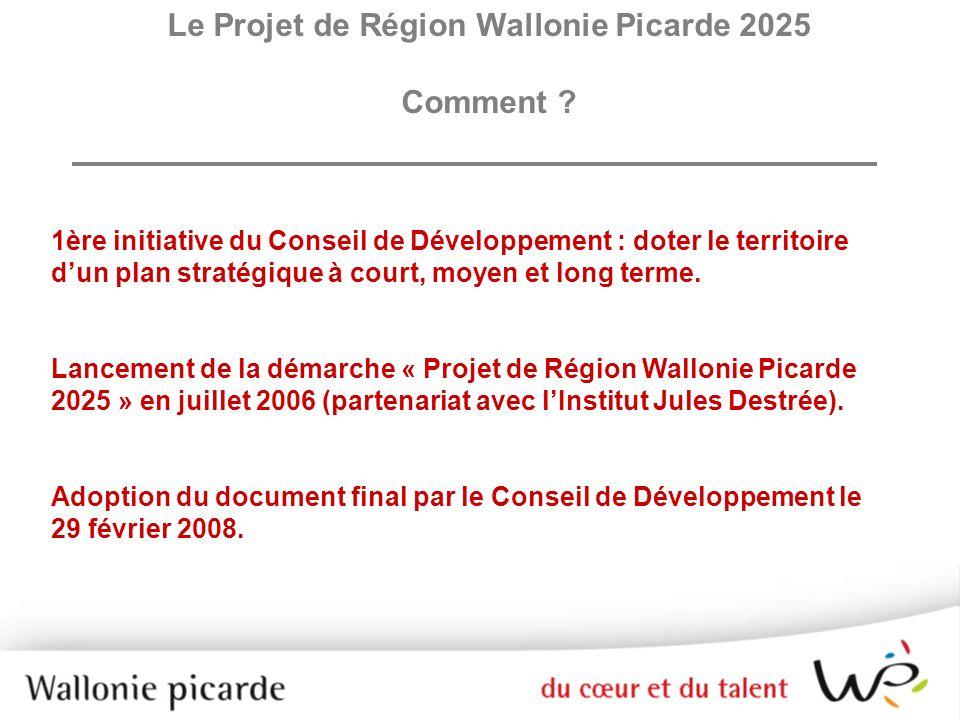 Le Projet de Région Wallonie Picarde 2025
