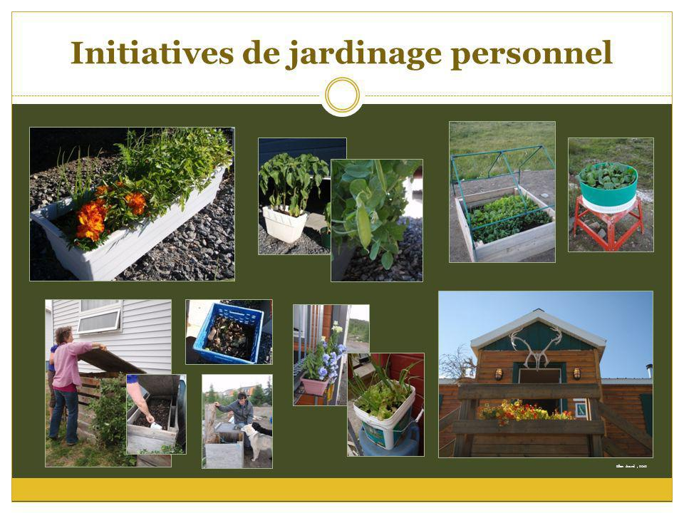 Initiatives de jardinage personnel