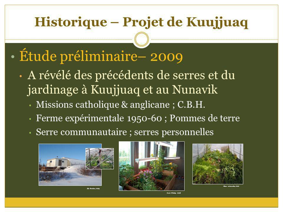 Historique – Projet de Kuujjuaq