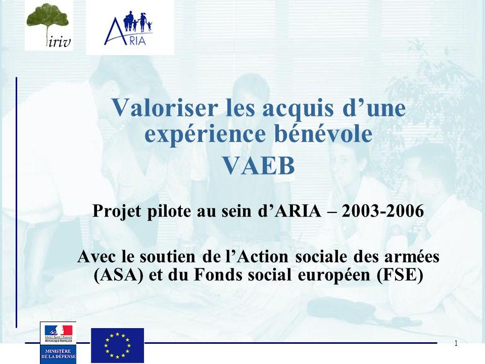 Valoriser les acquis d'une expérience bénévole VAEB