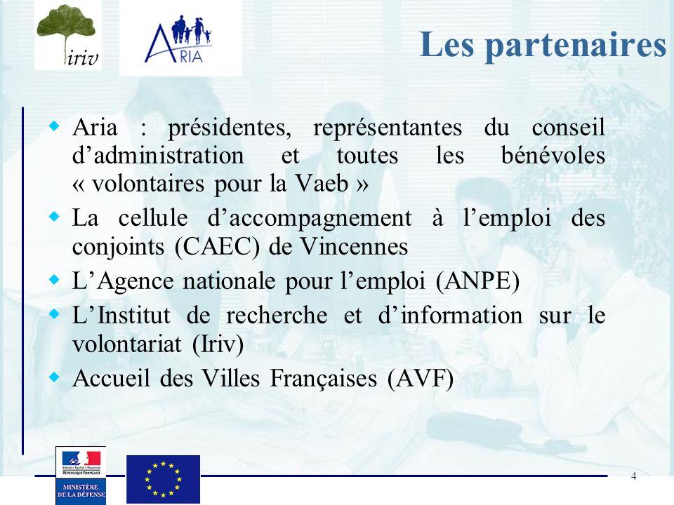 Les partenaires Aria : présidentes, représentantes du conseil d'administration et toutes les bénévoles « volontaires pour la Vaeb »