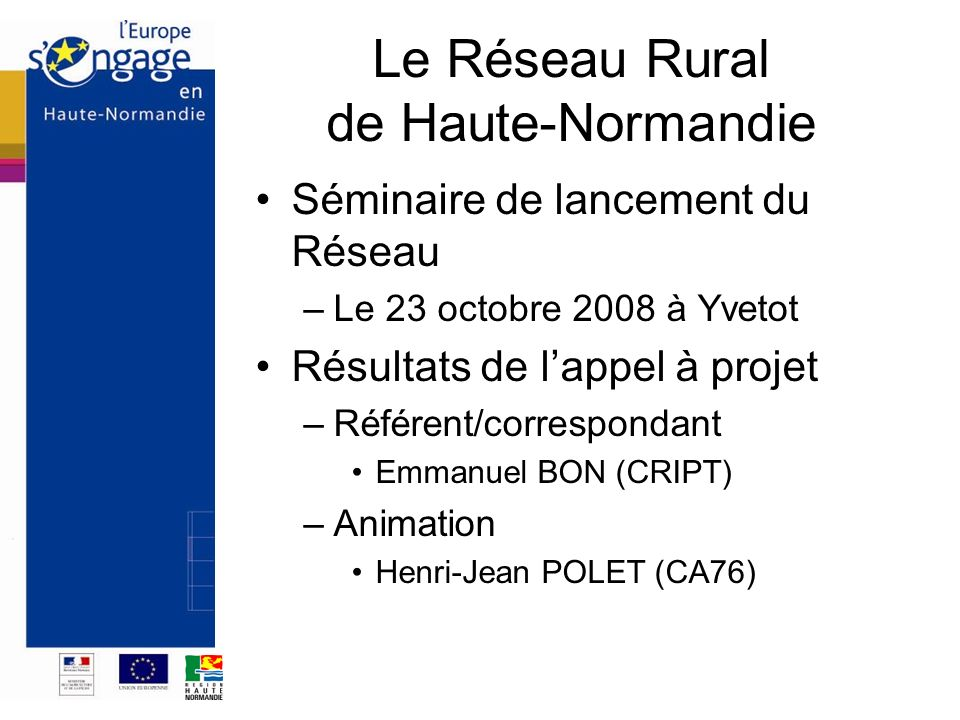 Le Réseau Rural de Haute-Normandie