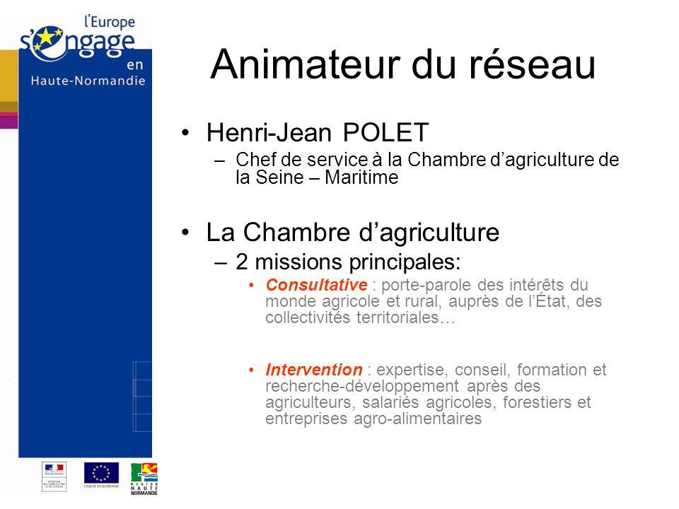 Animateur du réseau Henri-Jean POLET La Chambre d'agriculture
