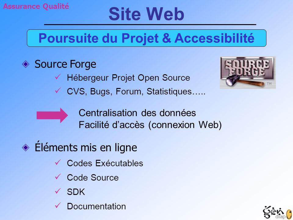 Poursuite du Projet & Accessibilité