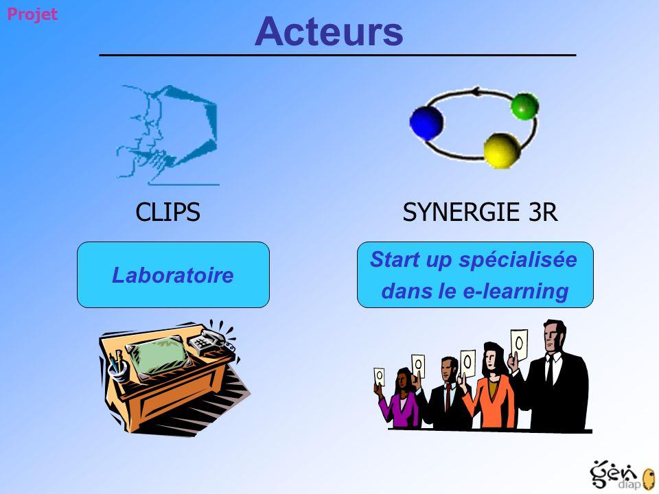 Acteurs SYNERGIE 3R CLIPS Start up spécialisée Laboratoire