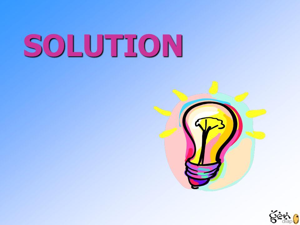 SOLUTION Les besoins détailé nous établis une solution en accord avec le clips.