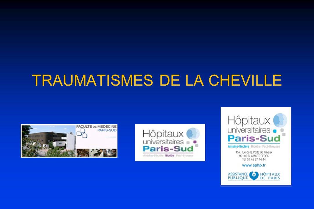 TRAUMATISMES DE LA CHEVILLE