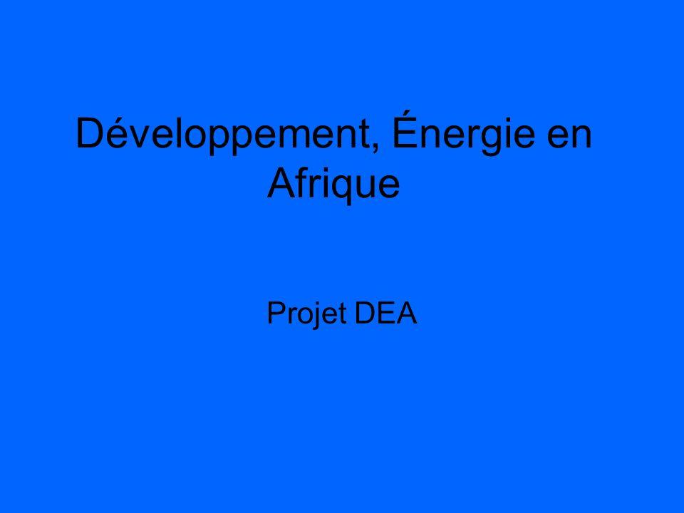 Développement, Énergie en Afrique