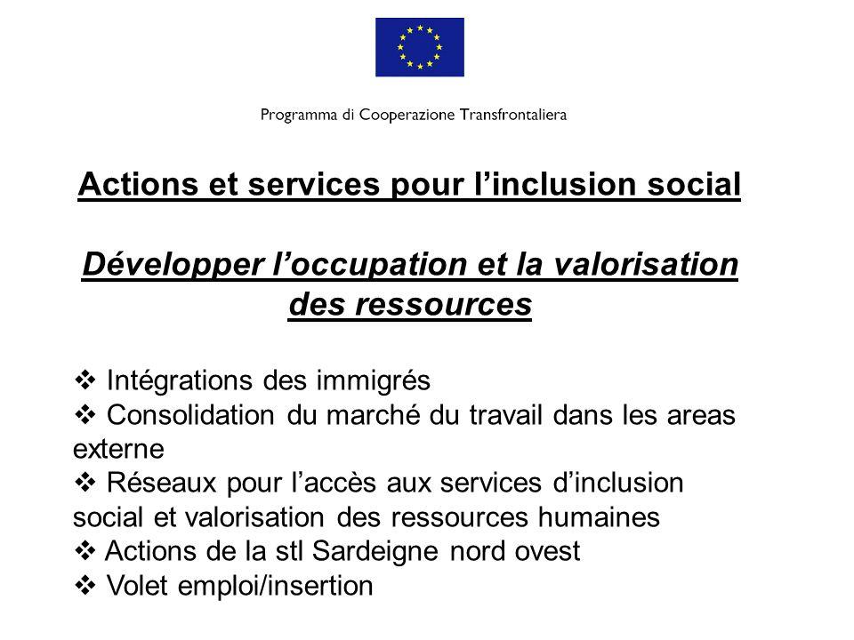 Actions et services pour l'inclusion social