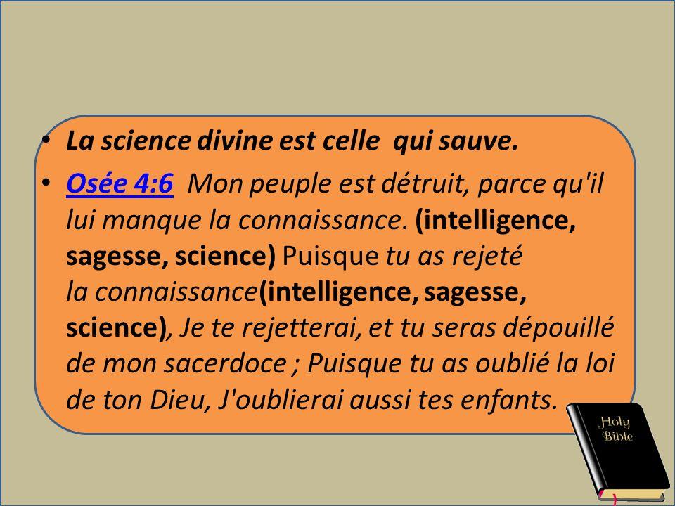 La science divine est celle qui sauve.