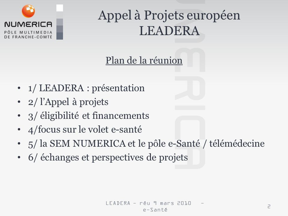Appel à Projets européen LEADERA