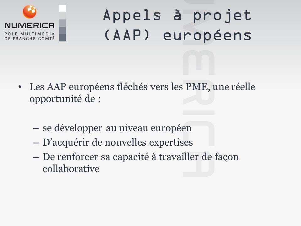 Appels à projet (AAP) européens