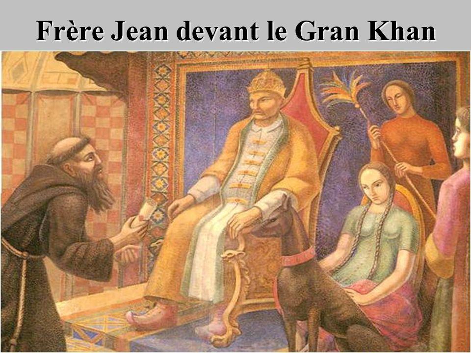 Frère Jean devant le Gran Khan