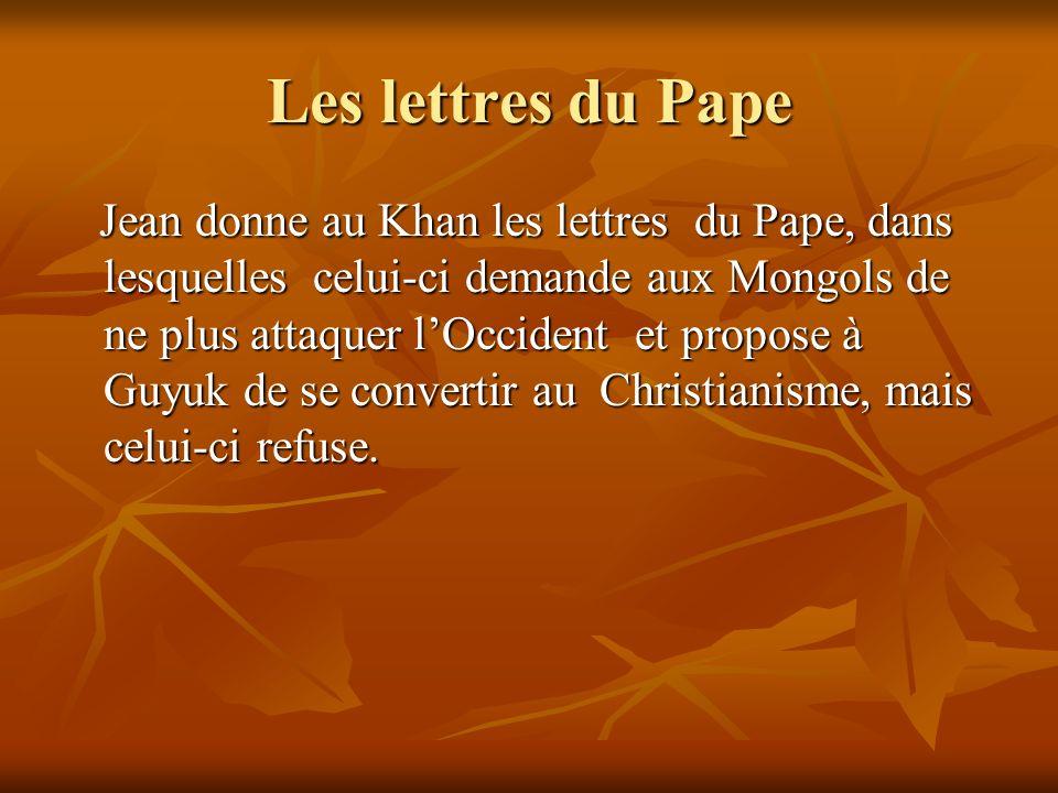 Les lettres du Pape