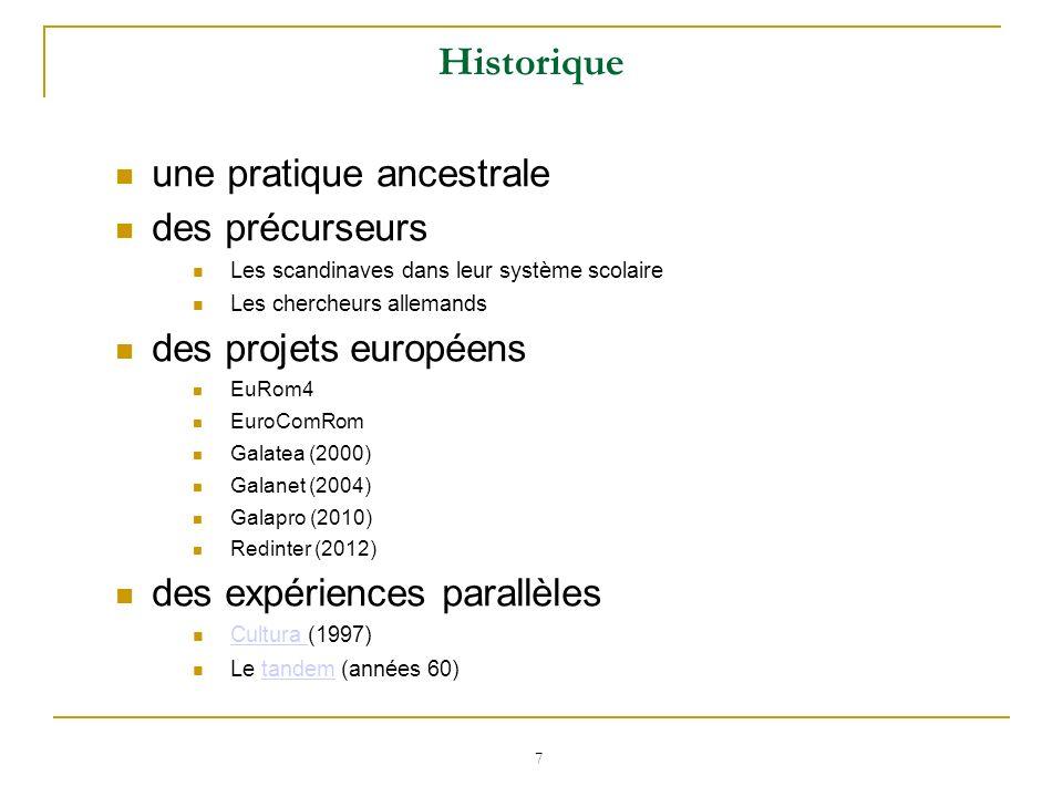 Historique une pratique ancestrale des précurseurs