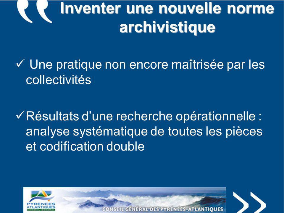 Inventer une nouvelle norme archivistique