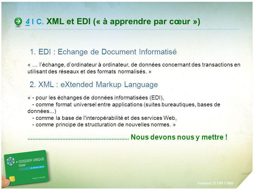 4 I C. XML et EDI (« à apprendre par cœur »)