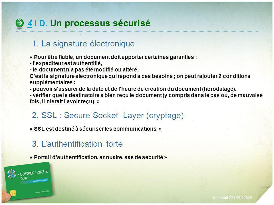 4 I D. Un processus sécurisé
