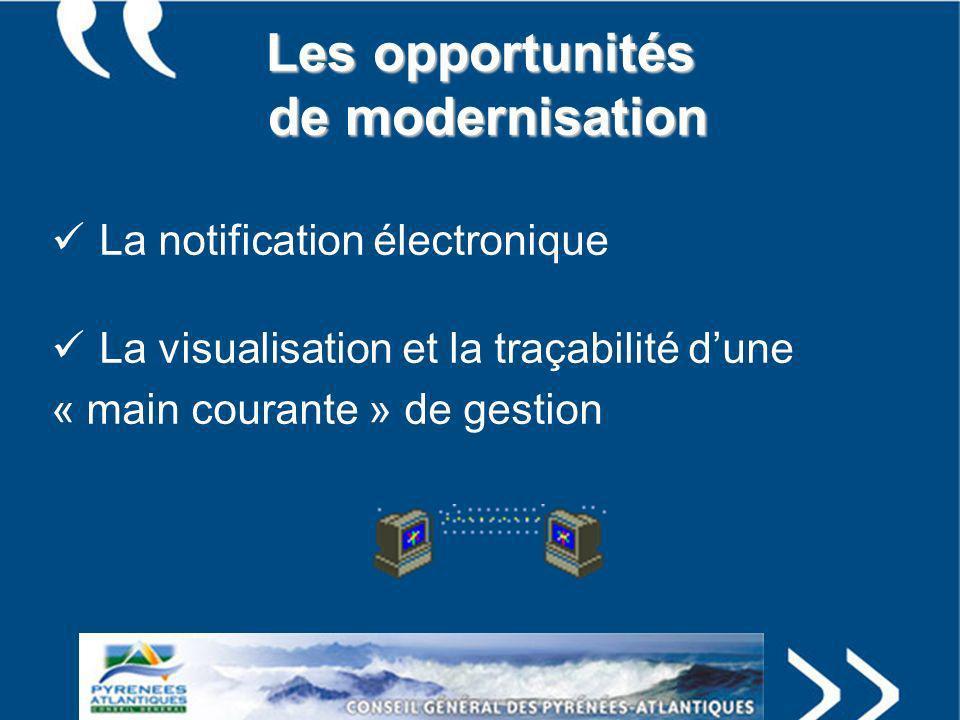Les opportunités de modernisation
