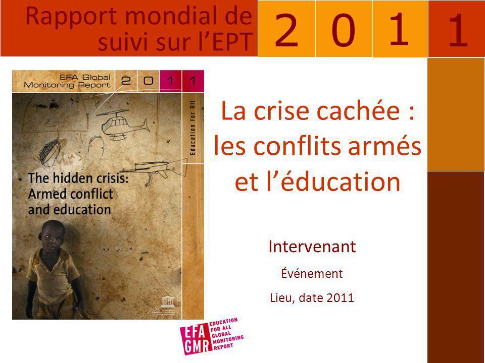 La crise cachée : les conflits armés et l'éducation