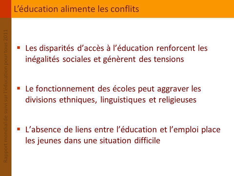 L'éducation alimente les conflits