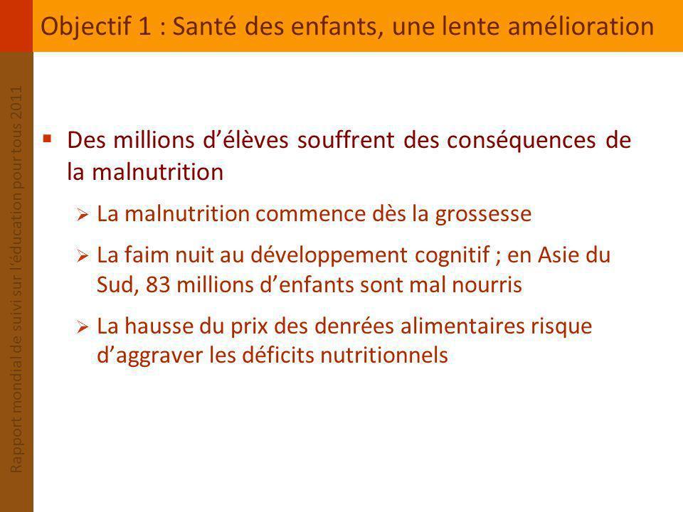 Objectif 1 : Santé des enfants, une lente amélioration