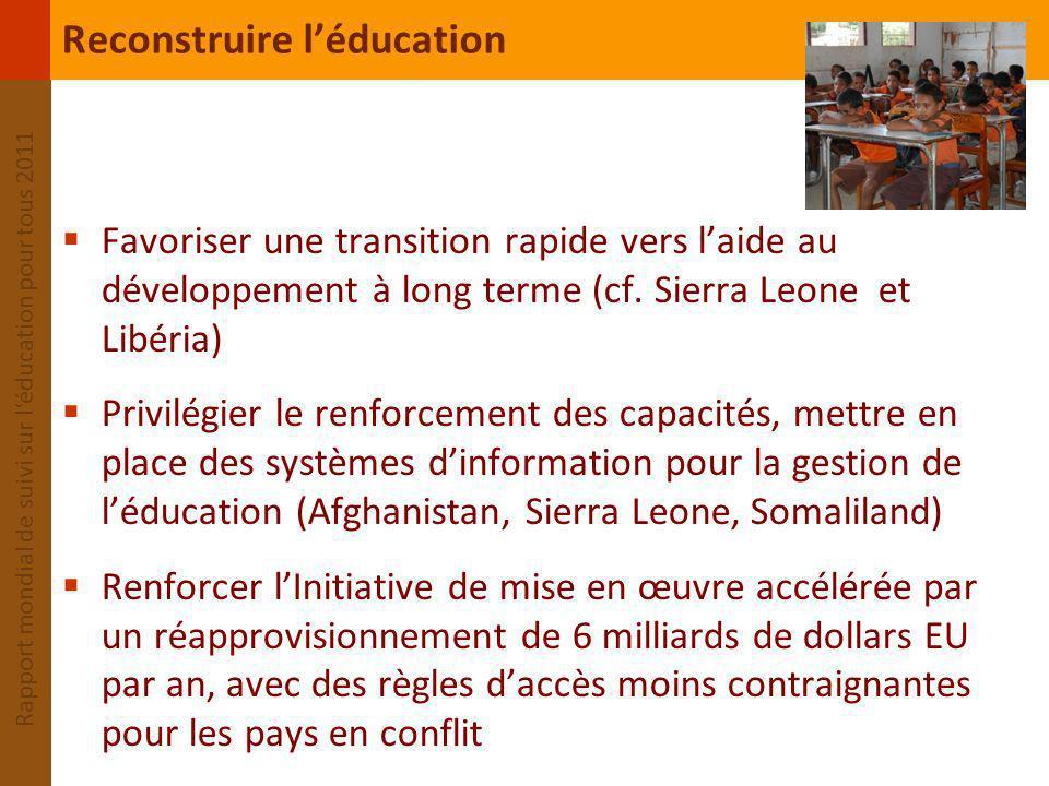 Reconstruire l'éducation