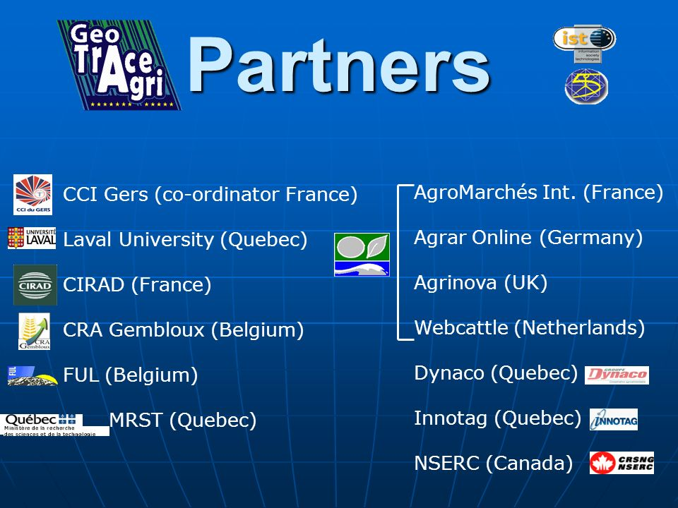 Partners CCI Gers (co-ordinator France) AgroMarchés Int. (France)