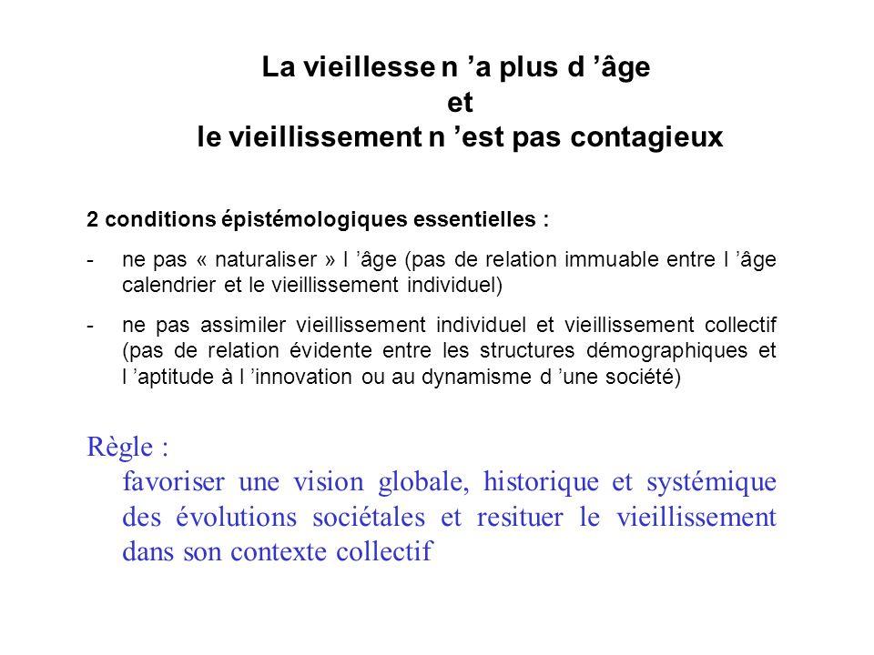 La vieillesse n 'a plus d 'âge et le vieillissement n 'est pas contagieux