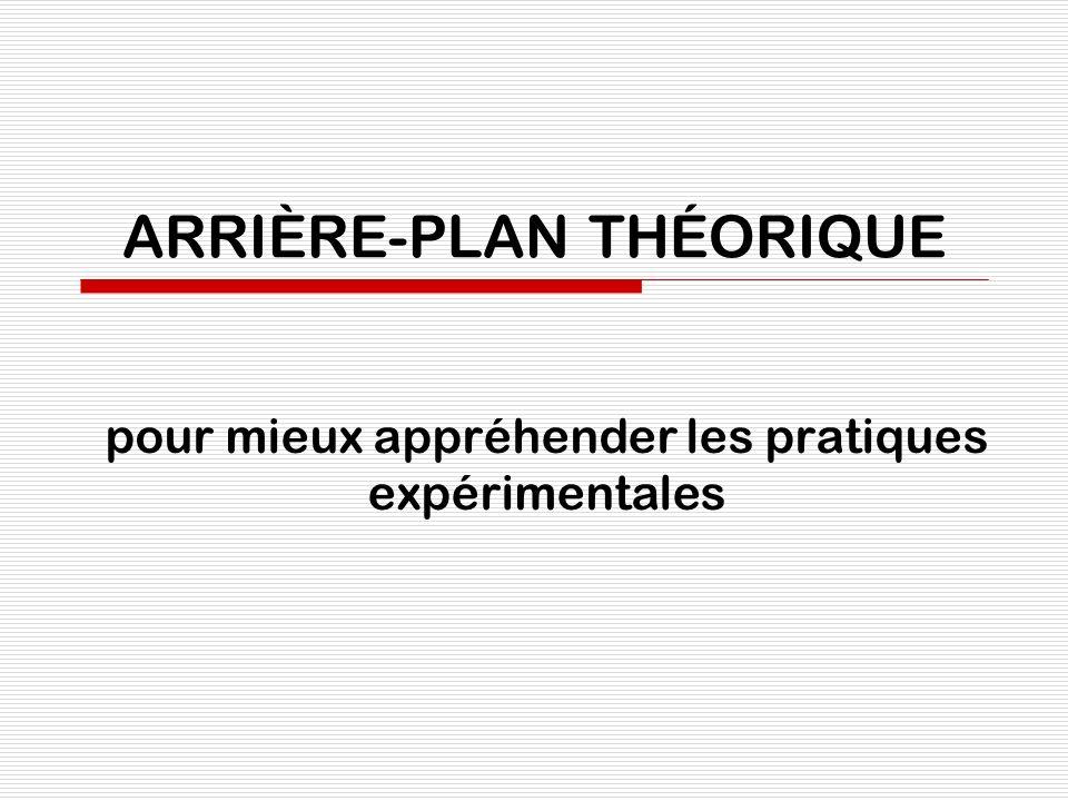 ARRIÈRE-PLAN THÉORIQUE