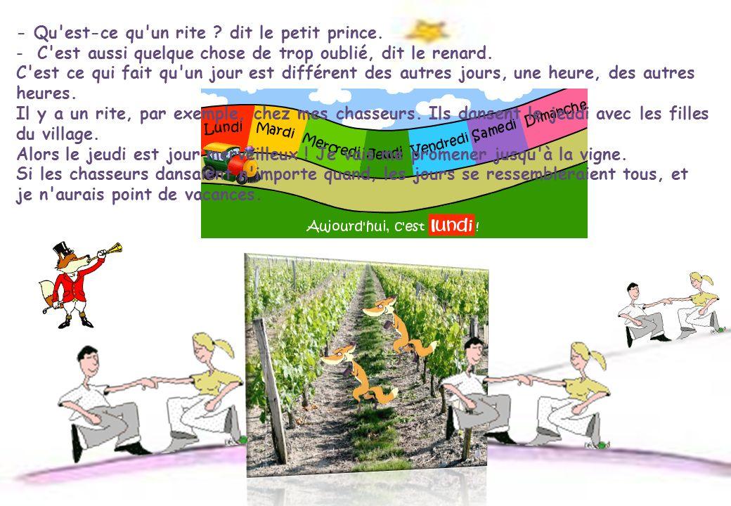 - Qu est-ce qu un rite dit le petit prince.