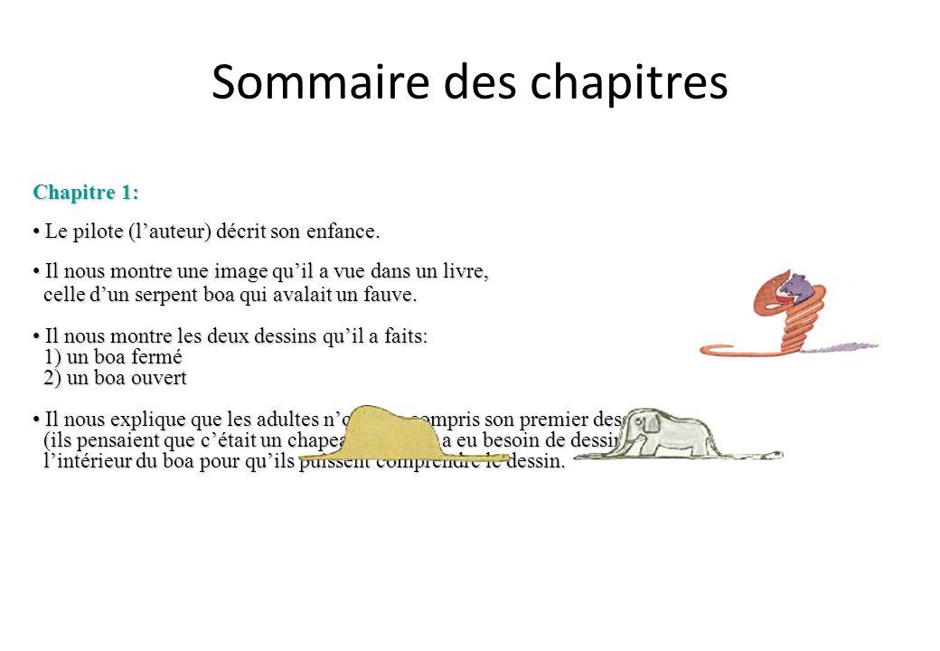 Sommaire des chapitres