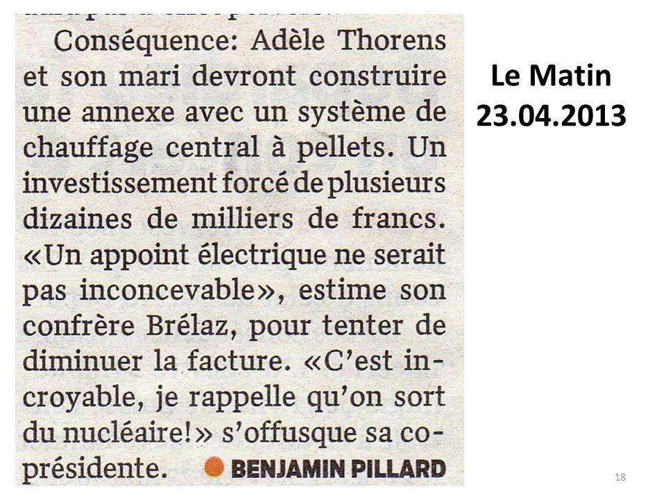 Le matin Le matin Le Matin 23.04.2013