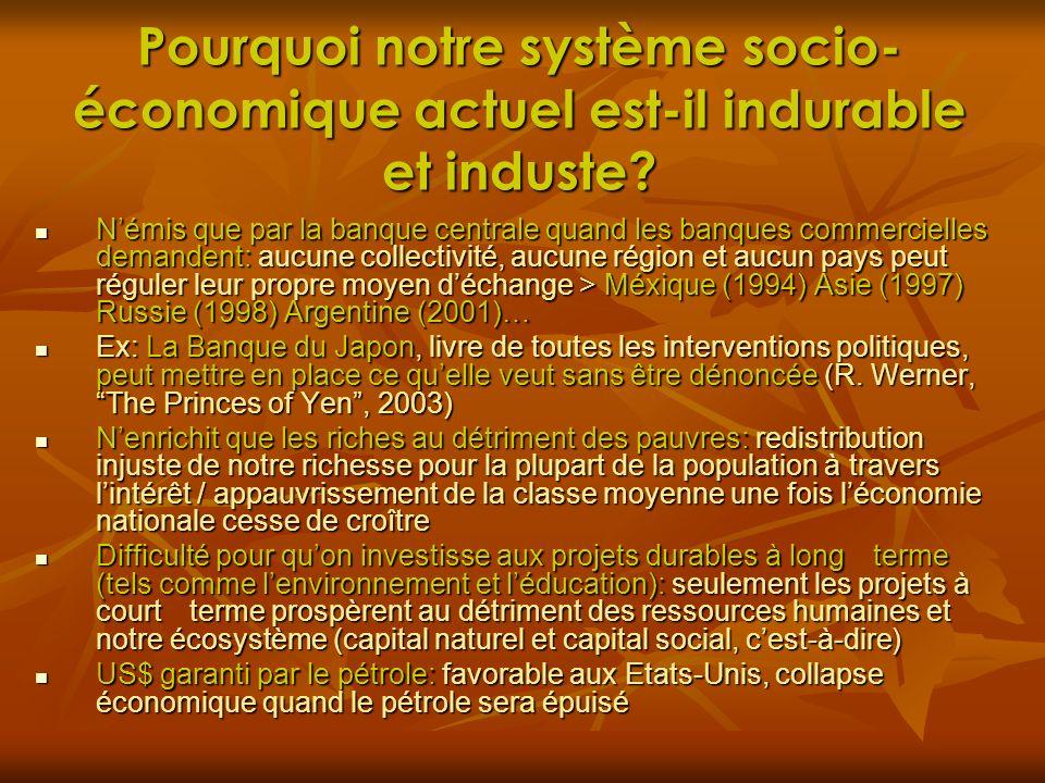 Pourquoi notre système socio-économique actuel est-il indurable et induste