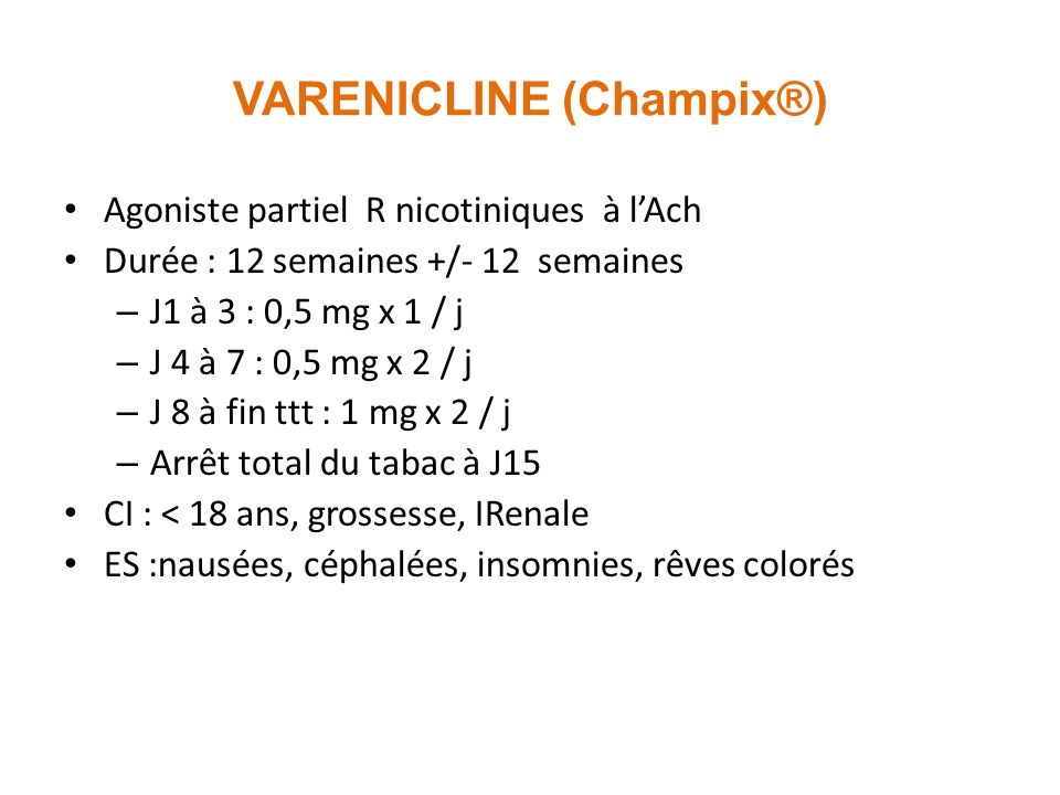 VARENICLINE (Champix®)