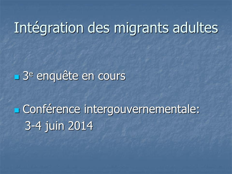 Intégration des migrants adultes