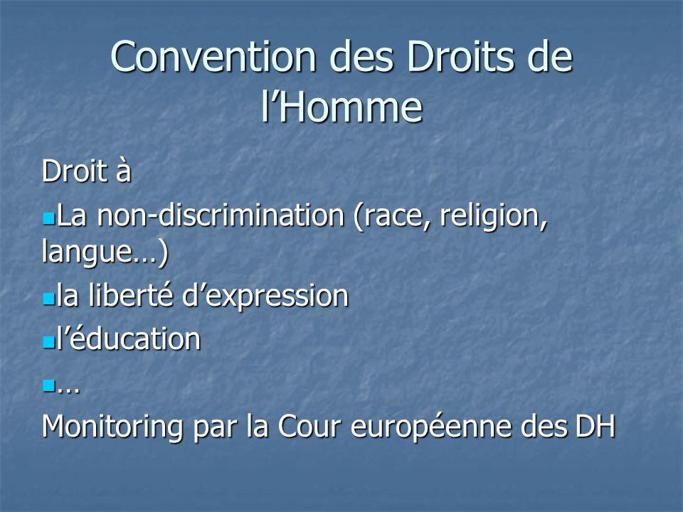 Convention des Droits de l'Homme