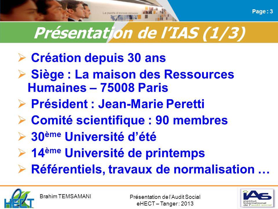 Présentation de l'IAS (1/3)
