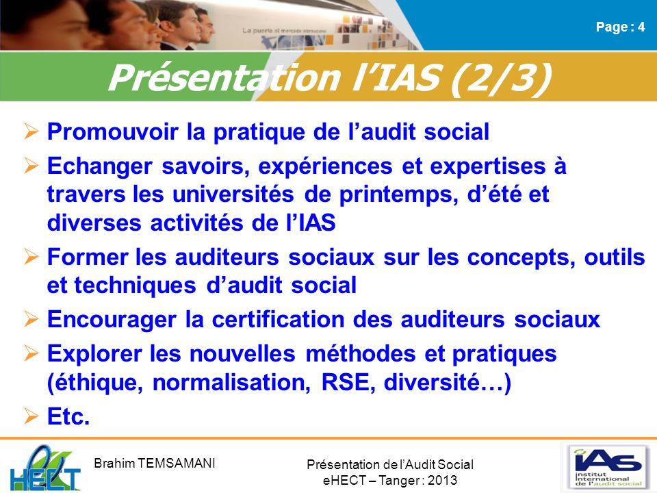 Présentation l'IAS (2/3)