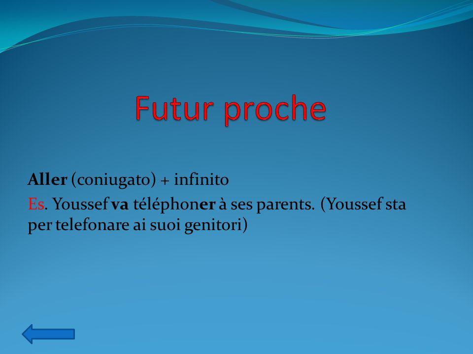 Futur proche Aller (coniugato) + infinito