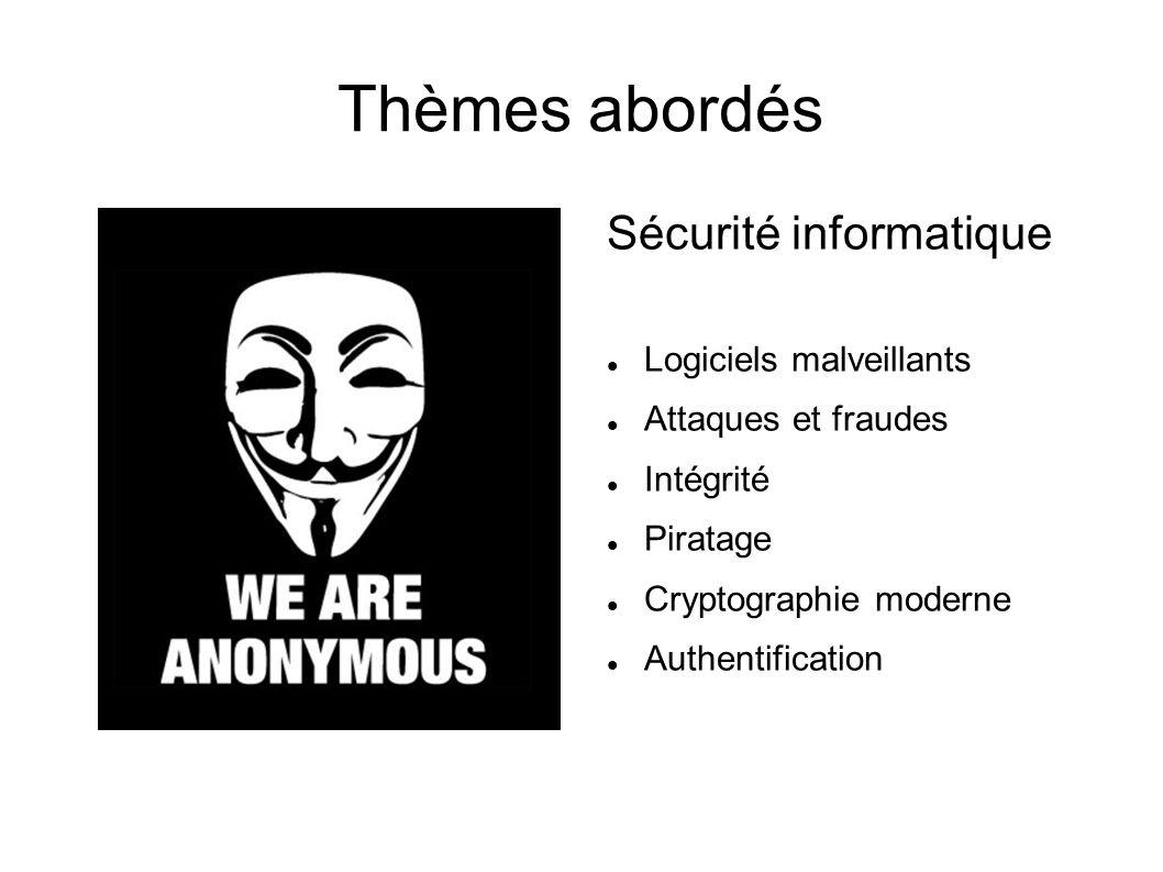 Thèmes abordés Sécurité informatique Logiciels malveillants